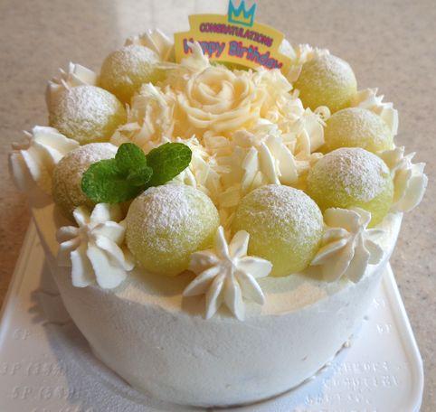 メロンデコレーションケーキ