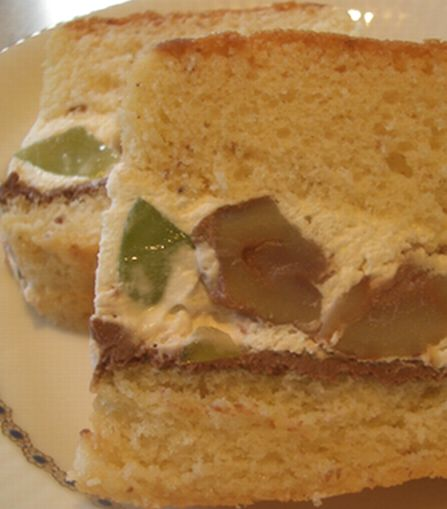 栗のケーキ