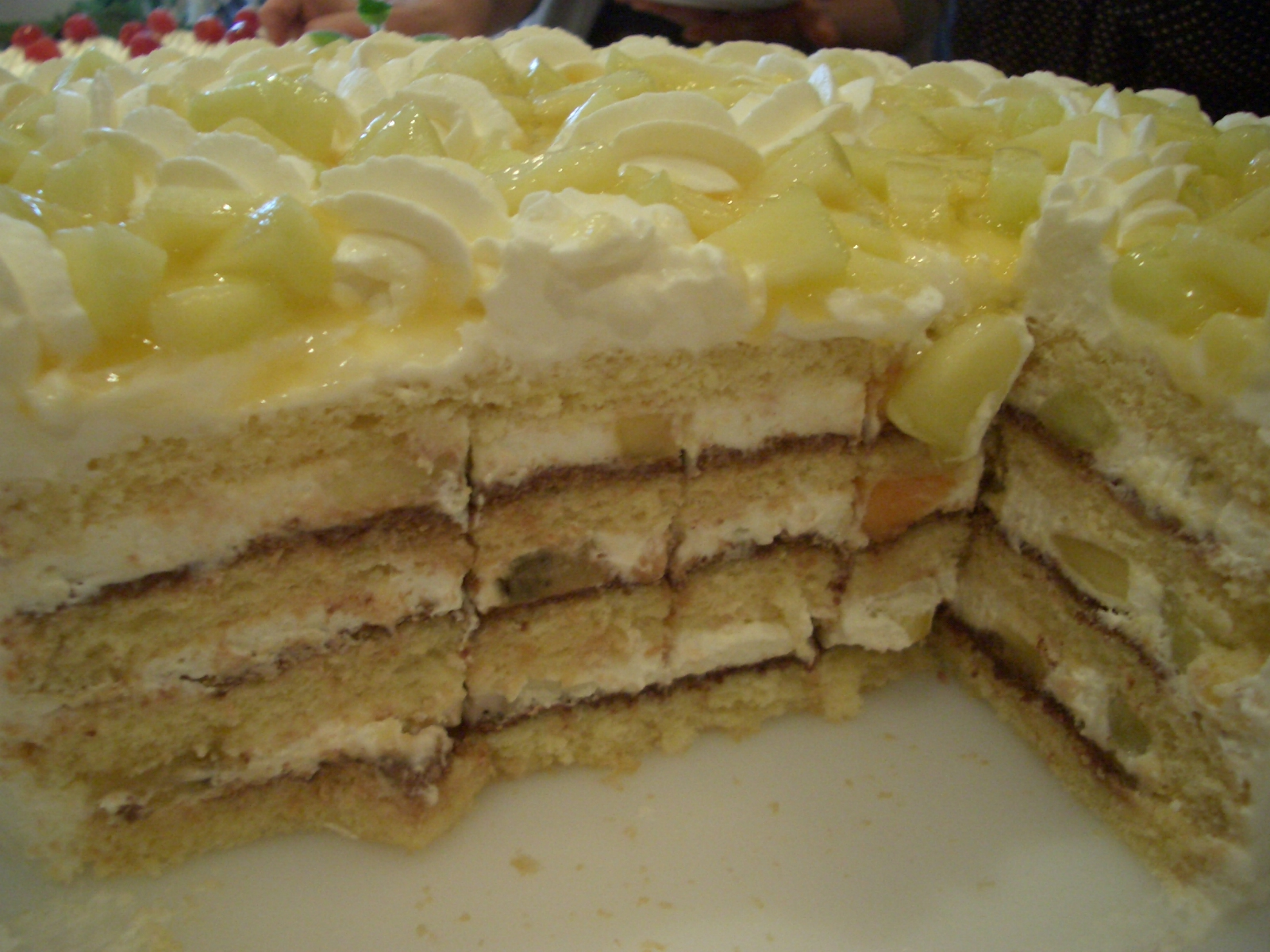 メロンケーキカット面