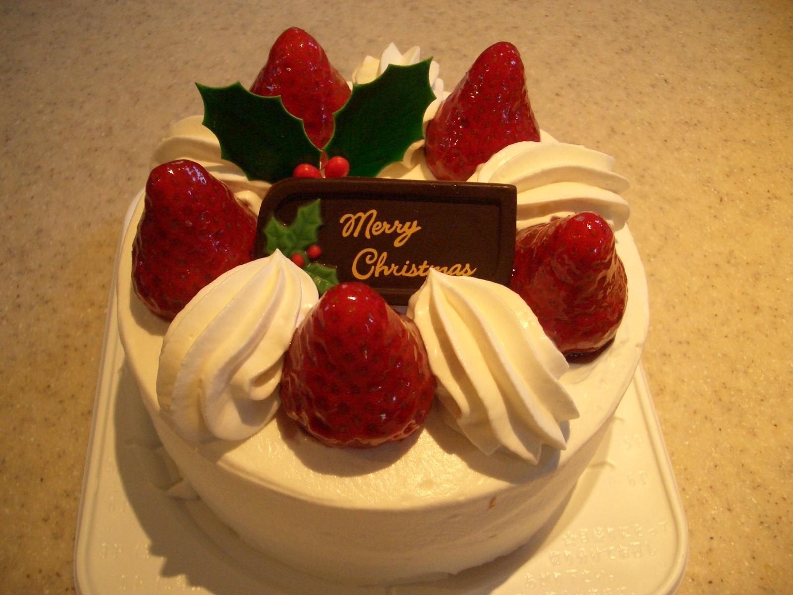 2009年クリスマスケーキ15センチサイズ¥3150