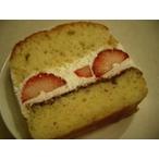 苺の生ケーキ(1カット分)1本で約8カット切れます。